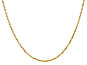 14k Yellow Gold 2.00mm Semi-Solid Wheat Chain 24