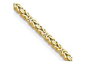 14k Yellow Gold 2mm Byzantine Chain 18