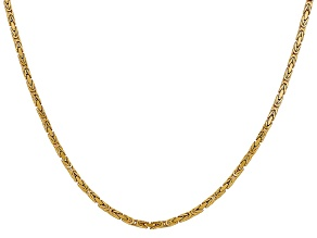 14k Yellow Gold 2mm Byzantine Chain 24