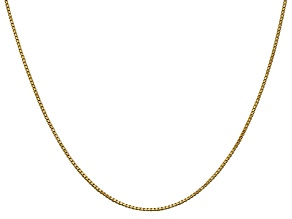 14k Yellow Gold 1.0mm Box Chain 30""
