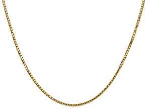 14k Yellow Gold 1.5mm Box Chain 24""