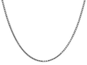 14k White Gold 1.9mm Box Chain 24