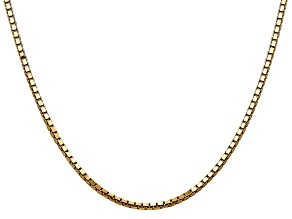 14k Yellow Gold 2.5mm Box Chain 20
