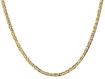 Picture of 14k Yellow Gold 3mm Concave Mariner Chain 18 inch