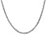 14k White Gold 3mm Concave Mariner Chain 18 inch