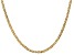14k Yellow Gold 3mm Concave Mariner Chain 20 inch