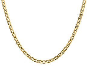 14k Yellow Gold 3.75mm Concave Anchor Chain 22