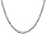 14k White Gold 3.75mm Concave Mariner Chain  18 inch