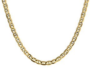 14k Yellow Gold 4.5mm Concave Mariner Chain 22 inch
