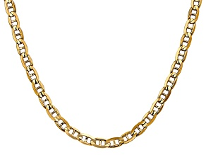 14k Yellow Gold 5.25mm Concave Mariner Chain 24 inch