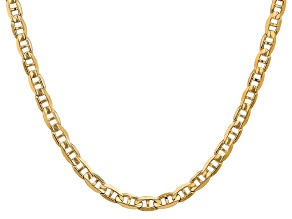 14k Yellow Gold 6.25mm Concave Anchor Chain 18