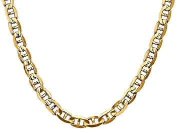 Picture of 14k Yellow Gold 7mm Concave Mariner Chain 26 inch