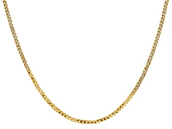 """Picture of 14k Yellow Gold 2.2mm Beveled Curb Chain 16"""""""
