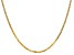 14k Yellow Gold 2.2mm Beveled Curb Chain 16""