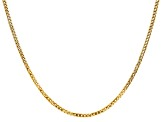 14k Yellow Gold 2.2mm Beveled Curb Chain 24""