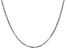 14k White Gold 2.2mm Beveled Curb Chain 18""