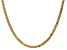 """14k Yellow Gold 3.2mm Beveled Curb Chain 24"""""""