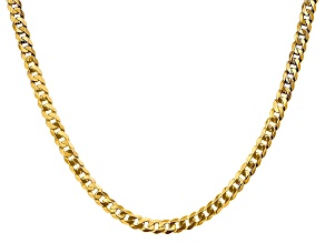 14k Yellow Gold 4.75mm Beveled Curb Chain 18""