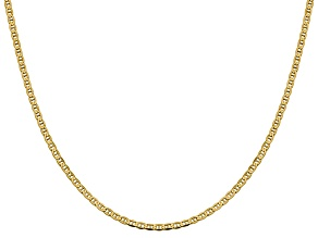 14k Yellow Gold 2.4mm Flat Mariner Chain 18 inch