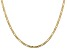 """14k Yellow Gold 3mm Concave Open Figaro Chain 24"""""""