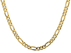 14k Yellow Gold 5.50mm Concave Open Figaro Chain 22