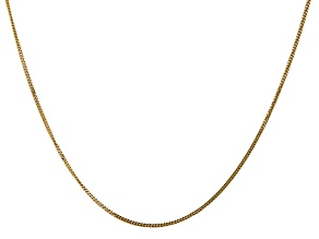 14k Yellow Gold 1.3mm Curb Pendant Chain 18