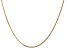 """14k Yellow Gold 1.3mm Curb Pendant Chain 20"""""""