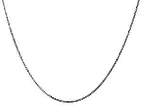 14k White Gold 1.3mm Curb Pendant Chain 24""