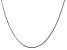 "14k White Gold 1.3mm Curb Pendant Chain 24"""