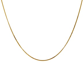 14k Yellow Gold 0.9mm Curb Pendant Chain 18