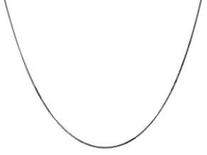 14k White Gold 0.9mm Curb Pendant Chain 18""