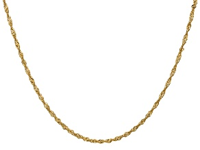 14k Yellow Gold 1.7mm Polished Singapore Chain 16