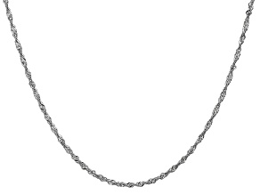 14k White Gold 1.7mm Singapore Chain 30