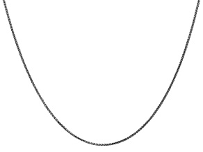 14k White Gold 1.mm Solid Diamond Cut Wheat Chain 16""