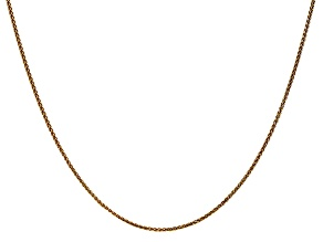 14k Yellow Gold 1.2mm Diamond Cut Wheat Chain 18""