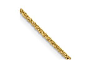 "14k Yellow Gold 1.2mm Diamond Cut Wheat Chain 18"""