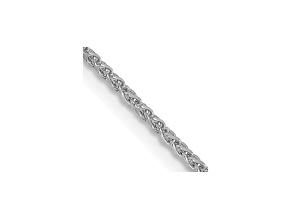 14k White Gold 1.2mm Solid Diamond Cut Wheat Chain 16