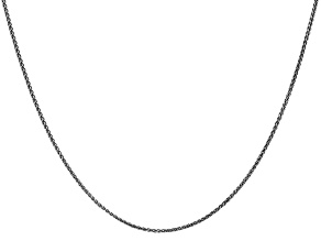 14k White Gold 1.2mm Solid Diamond Cut Wheat Chain 30