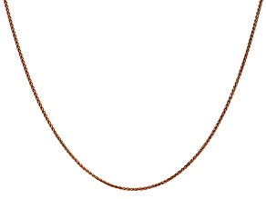 14k Diamond Cut Rose Gold 1.2mm Wheat Chain 24""