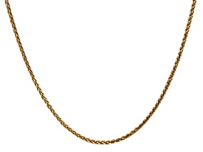 14k Yellow Gold 1.8mm Solid Diamond Cut Wheat Chain 24 inches