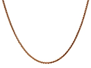 14k Rose Gold 1.8mm Solid Diamond Cut Wheat Chain 20 inches