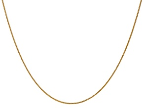 14k Yellow Gold 1mm Solid Polished Wheat Chain 18 inches