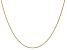 14k Yellow Gold 1mm Solid Polished Wheat Chain 24 inches