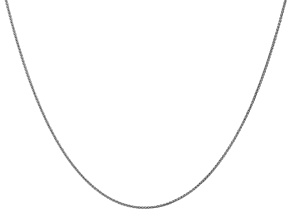 14k White Gold 1mm Wheat Pendant Chain 24 inches