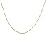 14k Yellow Gold 0.6mm Solid Diamond Cut Cable Chain 16 inches