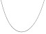14k White Gold 0.6mm Solid Diamond Cut Cable Chain 24 inches