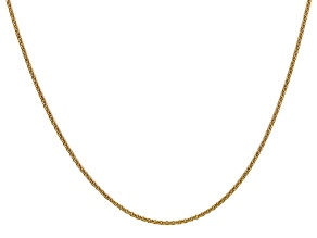 14k Yellow Gold 1.5mm Cable Chain 24 Inches