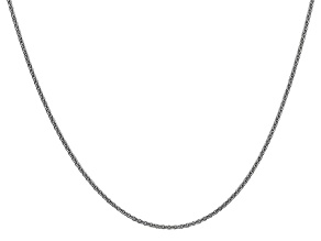 14k White Gold 1.5mm Solid Polished Cable Chain 24 Inches