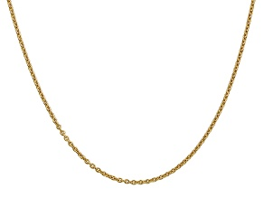 14k Yellow Gold 1.8mm Solid Polished Cable Chain 24 Inches