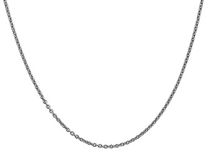 14k White Gold 1.80 mm Cable Chain 18 Inches